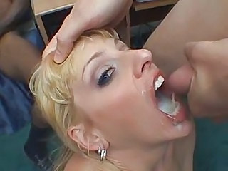 Blonde Bukkake  Pornstar Swallow