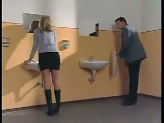Blonde Student Teacher Toilet Teacher Student