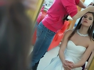 Babe Bride Brunette Wedding