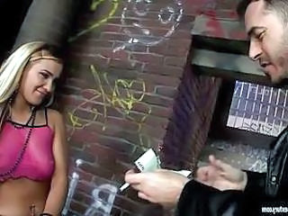 Blonde Cash Outdoor Small Tits Hooker Outdoor
