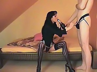Brunette Drunk German Handjob Skinny Stockings Stockings German