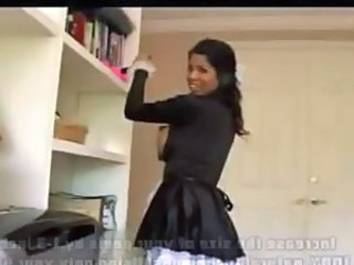 Babe Brunette Maid Pornstar Fishnet
