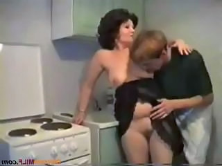 Mature Vintage Plumper Son Kitchen Mature Mom Son