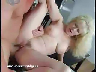 Granny Blonde Mature Granny Blonde Kitchen Mature