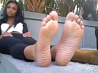 Babe Ebony Feet Fetish Ebony Babe