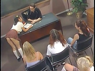 Cute Orgy Pigtail School Skirt Student Young Orgy