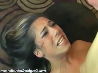 Brunette Daughter Hardcore Daughter Rough