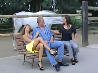 Cute German Outdoor Threesome Outdoor German