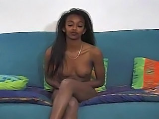 Casting Cute Ebony Small Tits
