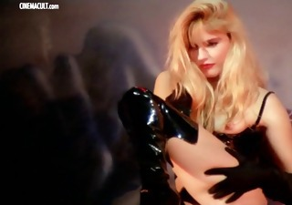 Babe Blonde Cute Erotic Latex Solo Vintage Softcore