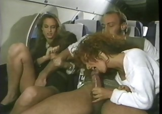 Blowjob British European  Public Threesome Vintage British