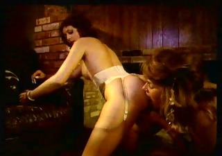 Ass Lesbian Licking  Stockings Vintage