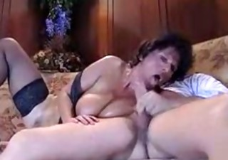 Big Tits Blowjob European French  Natural Vintage French