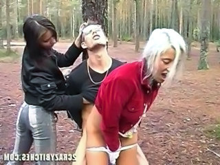 Clothed Femdom Hardcore Outdoor Slave Threesome Outdoor Crazy Threesome Hardcore