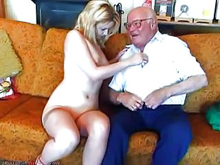 Old and Young Teen Grandpa Old And Young Pump Wild Wild Teen
