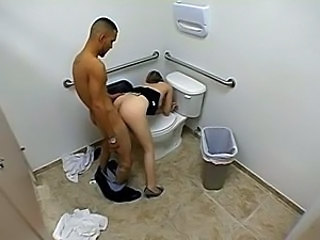 Doggystyle Hardcore HiddenCam Toilet Voyeur Hidden Toilet Spy