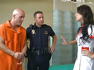 Brunette  Nurse Pornstar Prison Uniform Son