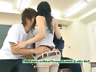 Asian Ass Japanese School Student Threesome Japanese School Classroom School Japanese Innocent