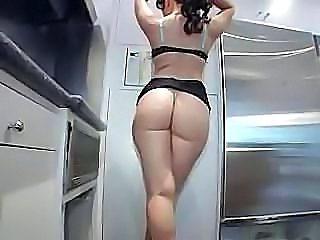Ass Kitchen Lingerie  Lingerie Milf Ass Milf Lingerie