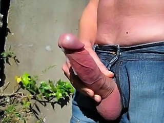 Cumshot Man Masturbating