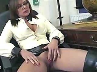 Glasses Masturbating  Mistress Milf Ass
