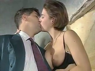 European French Kissing  Vintage French Milf European French