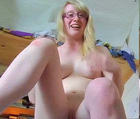 Amateur Blonde Glasses Masturbating Masturbating Amateur Amateur