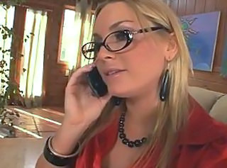 Blonde Glasses  Squirt Milf Ass