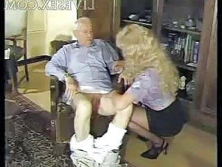 Blonde Handjob Older Old and Young Grandpa Old And Young