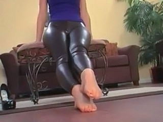 Feet Fetish Latex Legs