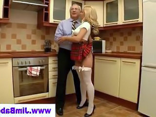 Babe Blonde Kitchen Old and Young Stockings Old And Young Stockings
