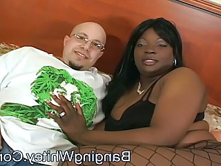 Ebony Fishnet Interracial  Bbw Milf Fishnet