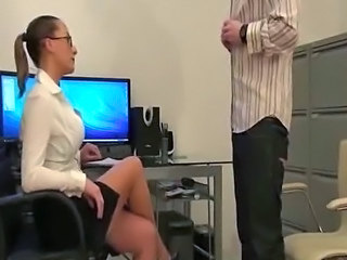 Femdom Glasses  Office Interview Milf Ass Milf Office Office Milf Slave Ass
