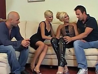 Blonde Groupsex Latex  European