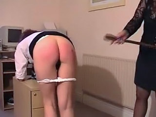 Ass Office Spanking Leather