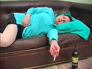 Drunk Mature Sleeping Smoking Drunk Mature