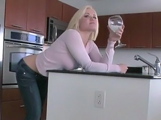 Blonde Cute Drunk Kitchen  Cute Blonde