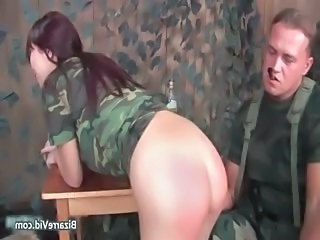 Army Ass Drunk Smoking Uniform