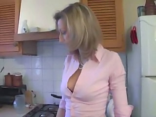 Blonde Kitchen  French Milf French Plumber