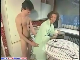 Amateur Kitchen  Mom Old and Young Aunt Old And Young Amateur