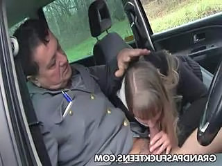 Blowjob Car Old and Young Car Blowjob Old And Young Police