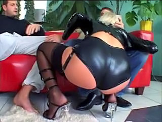 Blowjob European Latex Stockings Threesome Czech Stockings European Short Hair