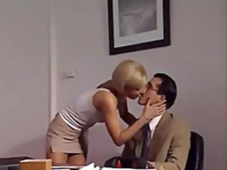 Blonde Kissing Office Drilled Italian Milf Milf Ass Milf Office Boss Office Milf Italian