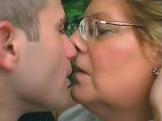 Chubby Glasses Granny Kissing Granny Cock Granny Young