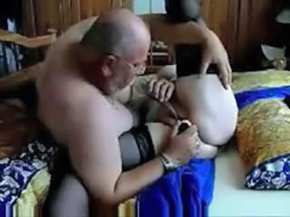 Homemade Older Stockings Toy Granny Cock