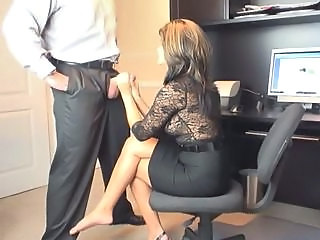 Handjob  Office Secretary Milf Office Office Milf
