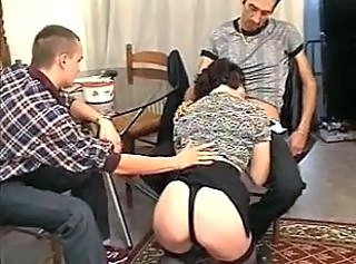 Ass Blowjob Clothed French Threesome French Threesome Brunette