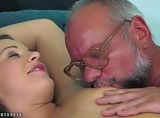Kissing Nipples Old and Young Grandpa Old And Young Kissing Teen Nipples Teen