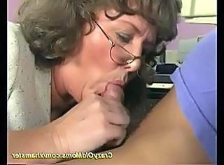 Blowjob Glasses Granny Granny Sex