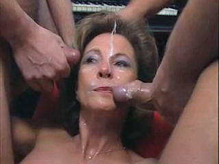 Mature German Gang Bang Facial